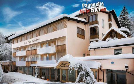 Hotel Piancastello - 5denní lyžařský balíček se skipasem a dopravou v ceně, Paganella