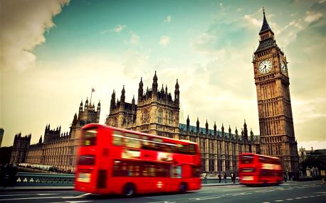 Velká Británie - Londýn autobusem na 5 dnů, snídaně v ceně