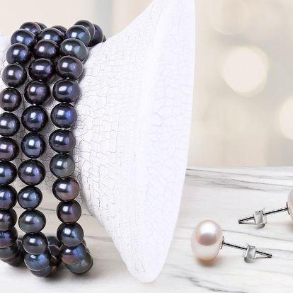 Krásné náramky a náušnice z přírodních perel