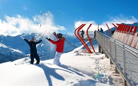 Jednodenní lyžovačka v rakouské oblasti Bad Gastein
