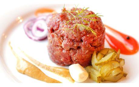 Namíchaný tatarák z hovězího masa: 300 nebo 500 g