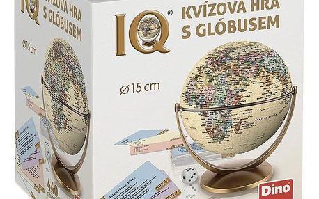 Dino Vědomostní kvízová hra s globusem, 440 otázek, 18 x 21 x 18 cm